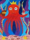 'King octopus', Diana Konstantinova, 10 years, (teacher Helga Leik), Tallinn (Estonia)