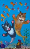 'Cat's dreams', Irina Kabanova, 9 years, (teacher M.M.Samokhvalova), Chelyabinsk