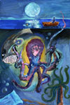 'The mysteries of the deep', Maria Salimova, 12 years, (teacher L.A.Valiullina), Kumertau (Bashkortostan)
