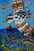 'Over the sea', Sofiya Solovodzinskaya, 9 years, (teacher O. P. Grytsiv), Podvolochisk