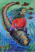 'The merman', Viktoriya Likholat, 8 years, (teacher A. N. Ermilova), Krasnodon