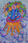 'I'm jolly jellyfish', Varvara Shabaeva, 8 years, (teacher Ya. A. Mishchenko), Izyum