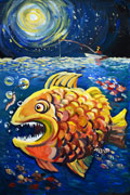 'King of fish', Ekaterina Shandro, 14 years, (teacher T. Yu. Guzova), Abakan (Khakasiya)